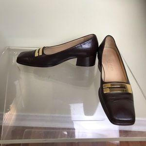 Gucci Leather Loafers big G front Pumps GG Shoes